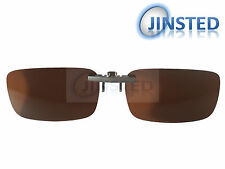 High Quality Brown Clip On Polarised Sunglasses Clip-On Light Polarized ACP012
