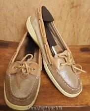 Sperry Glitter leather lace up angelfish boatshoes size 9 m