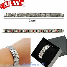 AntiFatigue Titanium Anion Magnetic Energy Germanium Power Health Bracelet W box