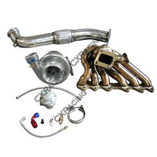 Single Turbo Manifold Downpipe Oil Line Kit For SC300 2JZ-GTE Swap 2JZGTE