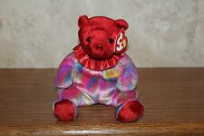NEW TY VERY RARE AND RETIRED BEANIE BABIES JULY THE BIRTHDAY BEAR BABY MWMT