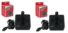 2 NEW RETRO-BIT BLACK BUTTON CLASSIC JOYSTICK FOR ATARI 2600 & FLASHBACK SYSTEMS