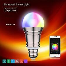 E27 Colorful LED RGB Bulb Light Bluetooth Wifi Control Smart Music Audio Lamps