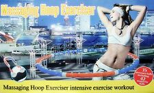Weighted Magnetic Hula Hoop Professional Fitness Exercise Massager Abs Workout