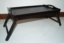 2 X NEW WOODEN BED TABLE SERVING TRAY FOLDING FOLDABLE LEGS
