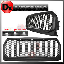15-16 2017 Ford F150 F-150 ABS White LED Raptor Style Mesh Packaged Grille Grill