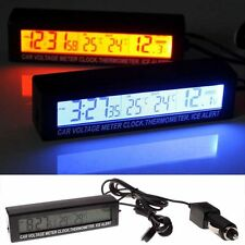 New Style Car LED Digital Clock In/Outdoor Temperature Thermometer Voltage Meter