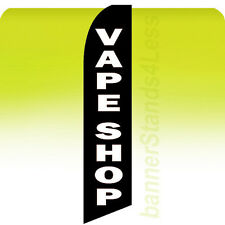 Feather Swooper Flutter Banner Sign 11.5' Flag- VAPE SHOP kb (e-cigarette vapor)