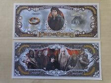LORD Of The RINGS; Precious ~ $1,000,000 One Million Dollar Bill: United States