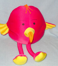 Hot Pink Micro Bead Plush Flamingo Fun Bird Travel Pillow Stuffed Animal Toy