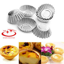 10 pcs Mini Tart Mold Shell Cupcake Cake Cookie Tin Baking Tool Muffin Steel