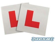 2x Fully Magnetic L Plate Kit / Learning Plate Genuine Silverline - Free UK P&P