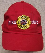 Embroidered Baseball Cap Fire Fighter Department  NEW 1 hat size fits all