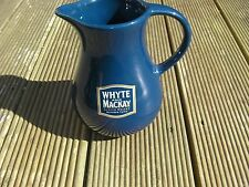 Unusal Blue Whyte & Mackay Whisky Water Jug - 15cm tall, 8cm diameter at top,vgc