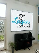 Wall Story lettering nursery sticker Personalized Name Monogram - LOGAN ZEBRA