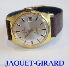 NOS Electroplated JAQUET-GIRARD GENEVE Mens Automatic Watch AIRVAC 400* 1970s