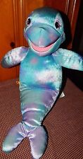 "Build a Bear Plush Tie Dye DOLPHIN Hand PUPPET Stuffed Animal Toy 20.5"" Soft"