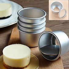 5 pcs Set Baking Cupcake Mould Round Pan Bakeware DIY Tool Bottom Pudding Mold