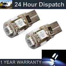 2x W5W T10 501 Errore Canbus libero BIANCO 5 LED INTERNI CORTESIA LAMPADINE il101301