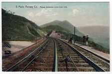 RARE SAO PAULO RAILWAY COMPANY BRAZIL Brasil PC Postcard STATE Railroad TRAIN RR