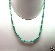 """15.00 Cts Natural Blue Rough Diamond Beads Necklace 16"""" inches long 925 Clasp"""