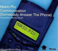MARIO PIU - COMMUNICATION (SOMEBODY ANSWER THE PHONE)  (3 track CD single)