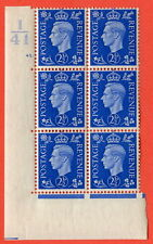 SG. 466. Q13. 2½d Ultramarine. lightly mounted mint. Control I41 cylinder 41