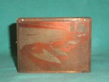 Vintage, printing plate, copper negative  boats , wood block/British