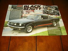 1965 FORD MUSTANG GT FASTBACK   ***ORIGINAL 1990 ARTICLE***