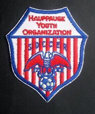 "HAUPPAUGE YOUTH ORGANIZATION ~ SOCCER EMBROIDERED SEW ON PATCH  3 1/2"" x 4"""