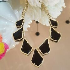 Kendra Scott Rare Black Onxy Kensey Necklace In Gold.  HTF. Pre-loved