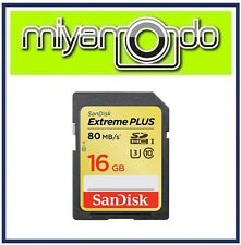 SanDisk Extreme Plus 16GB SDHC Memory Card