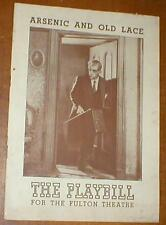 The Playbill March 9, 1942 for The Fulton Theatre ~ Arcenic And Old Lace