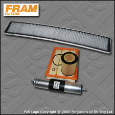 SERVICE KIT BMW 3 SERIES 323I E46 FRAM OIL AIR FUEL CABIN FILTERS (1998-2000)