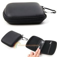 5 Inch Hard Shell Carry Case Bag Zipper Cover Pouch Black For GPS TomTom Garmin