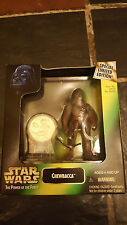 STAR WARS 1997 Hasbro Kenner POTF CHEWBACCA Figure with MILLENNIUM MINTED COIN
