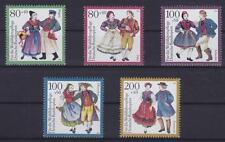Bund Mi Nr. 1696 - 1700 **, Trachten I 1993, postfrisch, MNH