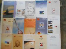 46 ALL DIFFERENT BROCHURES LOT - India Blank Folders - w/o Stamps BIG SIZE