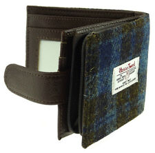 Gents Authentic Harris Tweed Coin Wallet Barra Blue Check LB2105 - COL 40
