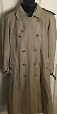 Vintage Burberry Of London Men's Trench Coat Nova Check Plaid Size 48 Regular