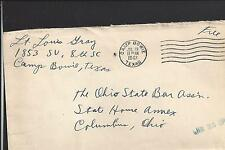 CAMP BOWIE, TEXAS COVER,1943, FREE MAIL, WORLD WAR 2, MILITARY.