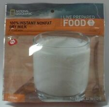 National Geographic MRE 100% Instant Nonfat Dry Milk - Case = 36 Servings 05-21