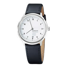 Mondaine Men's MH1R2210LB 'Helvetica No. 1 Regular' Black Leather Watch