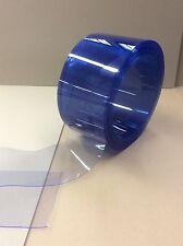 Lamellenvorhang Rollenware Weich PVC 200 x 2 x 25 m       blautransparent