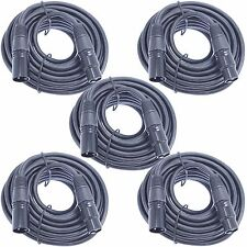 5pack 25 ft foot 3 pin XLR male to female for powered active speakers monitors