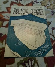"""Septic Tanks Sewage Disposal Sytems"" Sept 1946 Colorado A & M College"