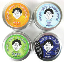 4 Pack GLOW in the DARK Crazy Aarons Putty Desk Toy Krypton, Aura, Amber, Ion 2""