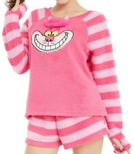 Disney Alice in Wonderland Cheshire Cat Fuzzy Short Sleep Set Pink Size XL NWT