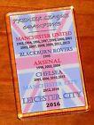 Leicester City Premier League champions list on Union jack flag fridge magnet