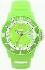 Ice-Watch Unisex Resin Case Strap Quartz Watch - Green. New In Box.
